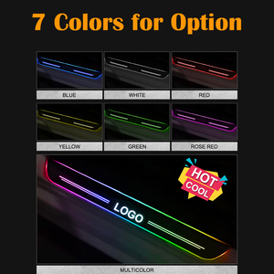 Image 2 - LED Door Sill For Nissan Navara NP300 2015 2016 2017 2018 Door Scuff Plate Pathway Pedal Threshold Welcome Light Car Accessories