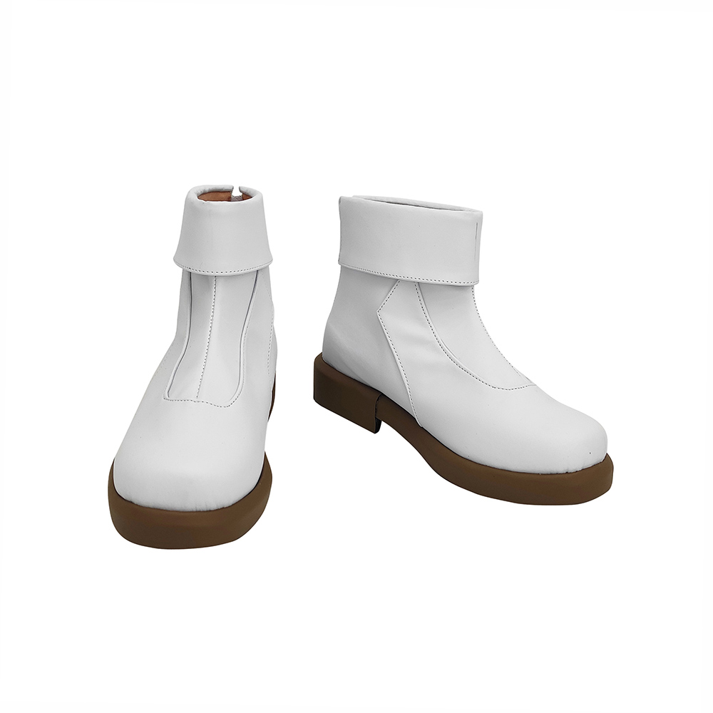 Anime Jujutsu Kaisen Toge Inumaki Cosplay Boots White Leather Shoes Custom Made Any Size (4)