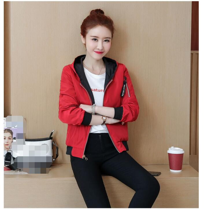 H60a3646280884ef791996b0ae6b97afaP Windbreak Jacket Women Long Sleeve Hooded Coats Spring Autumn Casual Solid Zip Up Basic Jackets for Women