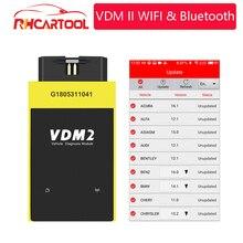 OBD2 UCANDAS VDM2 Full system V5.2 Bluetooth/Wifi OBD2  VDM II for Android VDM 2 OBDII Code Scanner PK easydiag Update free