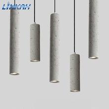 Nordic светодиодный цемента Винтаж промышленный Стиль потолочный