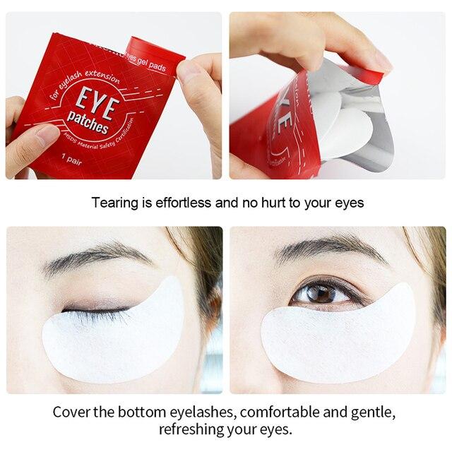 NAGARAKU sous les coussinets pour les yeux patchs de Gel pour les yeux non pelucheux patchs pour les yeux pour les patchs dextension de cils