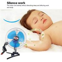 8 inch 12V/24V Mini Electric Car Fan Cooling Low Noise Summer Car Fan Portable Vehicle Truck Auto Oscillating Cooling Fan|Blowers| |  -