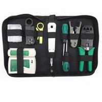 Portable LAN Network Repair Tool Kit RJ45 RJ11 RJ12 CAT5 CAT5e Utp Cable Tester and Pliers Crimp Crimp Plug Clamp PC