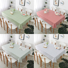 Tablecloth for Coffee Table PVC Plaids Rectangular Tablecloths Oilcloth Waterproof Table Cover For Home Kitchen Living Room