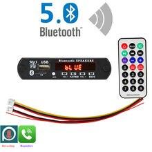 Aruimei microfone handsfree 5v-12v bluetooth5.0 mp3 módulo de placa de decodificação sem fio do carro usb mp3 player tf slot para cartão/usb/fm