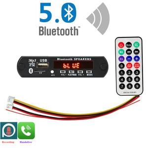 Микрофон ARuiMei для режима «свободные руки», 5-12 В, Bluetooth 5,0, плата декодирования MP3, модуль, беспроводной автомобильный USB mp3-плеер, слот для TF-кар...