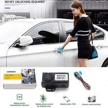 Keyless Entry Auto Alarm System PKE Smart Schlüssel Automatische Stamm Öffnung Start Stop Smartphone Remote Zentralverriegelung/Entsperren