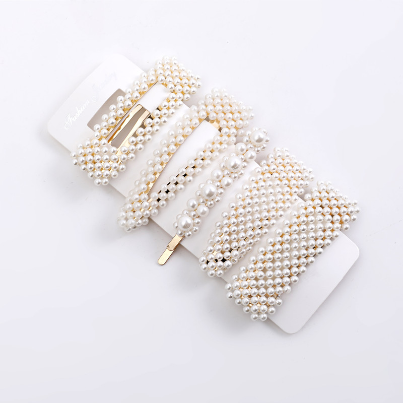 5 Pieces Pearl Hairpin Women's Fashion Soft Pearl Hairpin Hair Stick Girl Hair Clip Hair Clip Set Hair Accessories Jewellery