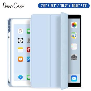 Чехол для 2019 iPad 10,2 7th 2018 2017 9,7 Mini 4 5 2020 Pro 11 10,5 Air 3 Smart Cover с карандашом держатель для iPad 5th 6th поколения