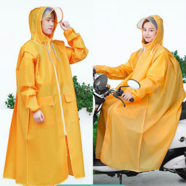 Long Transparent Raincoat Electric Motorcycle Raincoat Adult Long Coat Women Thickening Increase Rain Poncho Coat Hiking Gift