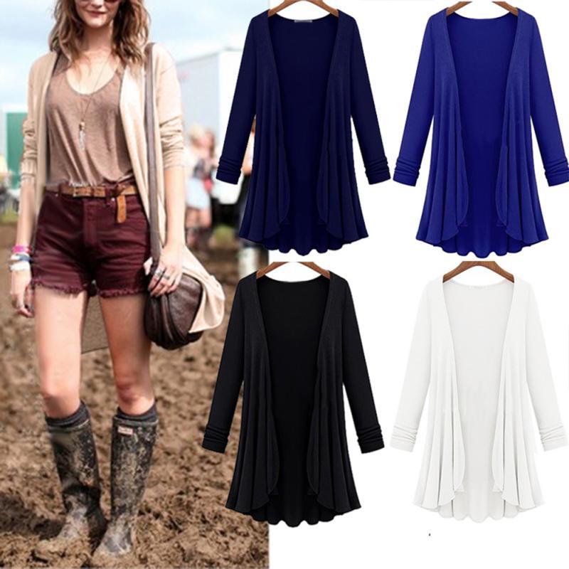 Spring Fashion Cardigan Women Sweater Casual Crochet Poncho Plus Size Coat Women Long Sweaters Vestidos Cardigans Outerwear