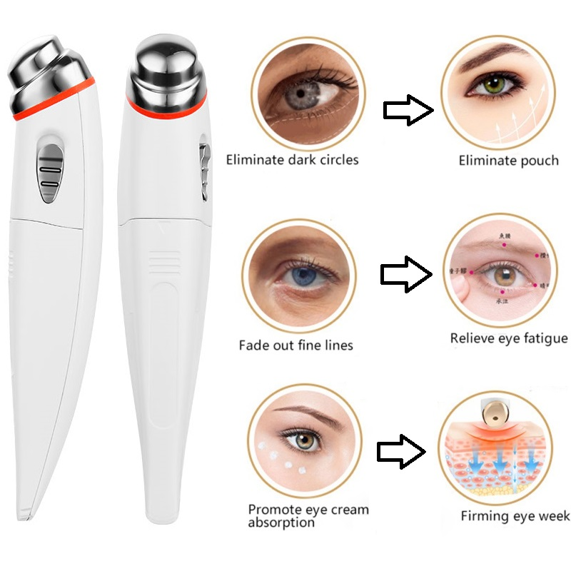 1Pcs Electric Eye Massager Anti Aging Wrinkle Eye Patch Relief Micro-current Massage Negative Ion Importing Eyes Care Device