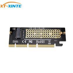 PCIE3.0 NVME Adapter X4 X8 X16 PCI-E pełna prędkość M.2 2280 arkusz przewodność cieplna wafel krzemowy wentylator chłodzący