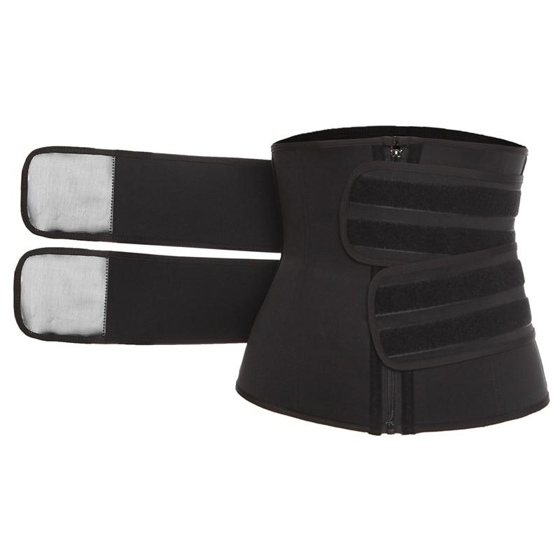 Corsé con soporte de cintura deshuesado entrenador Sauna sudor fajas deportivas Cintas Modeladora mujer faja Lumbar entrenamiento cinturón recortador