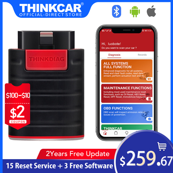 Thinkcar thinkdiag bluetooth adaptor All free car scanner obd2 diagnostic tool auto automotive obdii diagnosis scan tools launch x431 pro mini with bluetooth function full system 2 years free update online mini x 431 pro powerful auto diagnostic tool