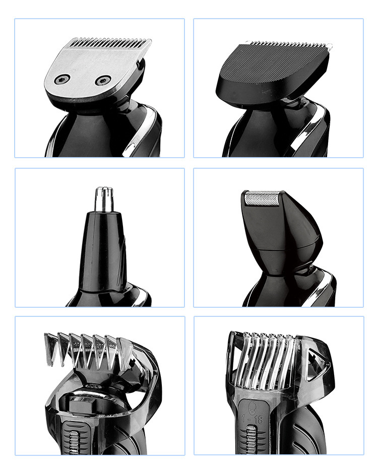 6 in 1 Hair Trimmer Titanium Hair Clipper tondeuse cheveux Hair Trimmer Men Styling Tools Shaving Machine Cutting Electric shave
