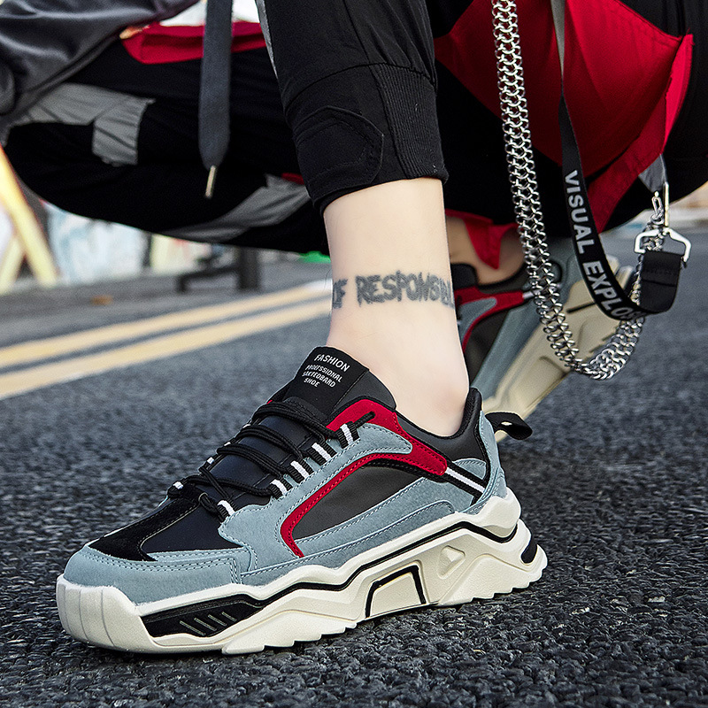 Spring And Autumn New Style Ozhouzhan Catwalk Models Sporty Men's Casual Shoes Cool Joint Dad Shoes Korean-style Fashion Men's S