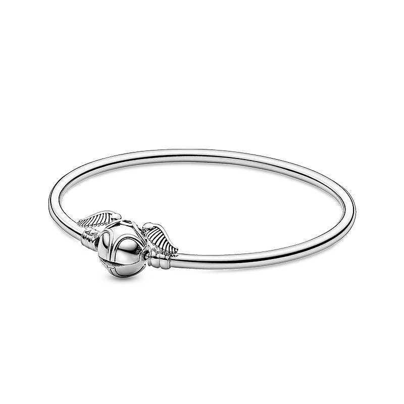 2020 NEW 925 silver european 16-21cm i open at the close harry style wing can move charm bracelet bangle