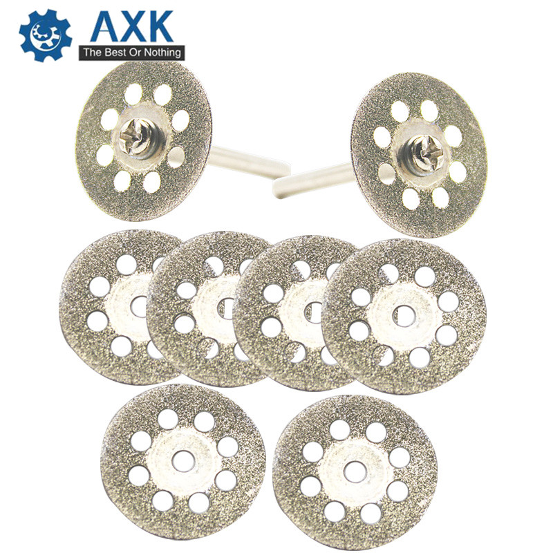 20mm 25mm 30mm Dremel Accessories Diamond Grinding Wheel 10pcs Mini Circular Saw Cutting Disc Diamond Abrasive Disc DT438