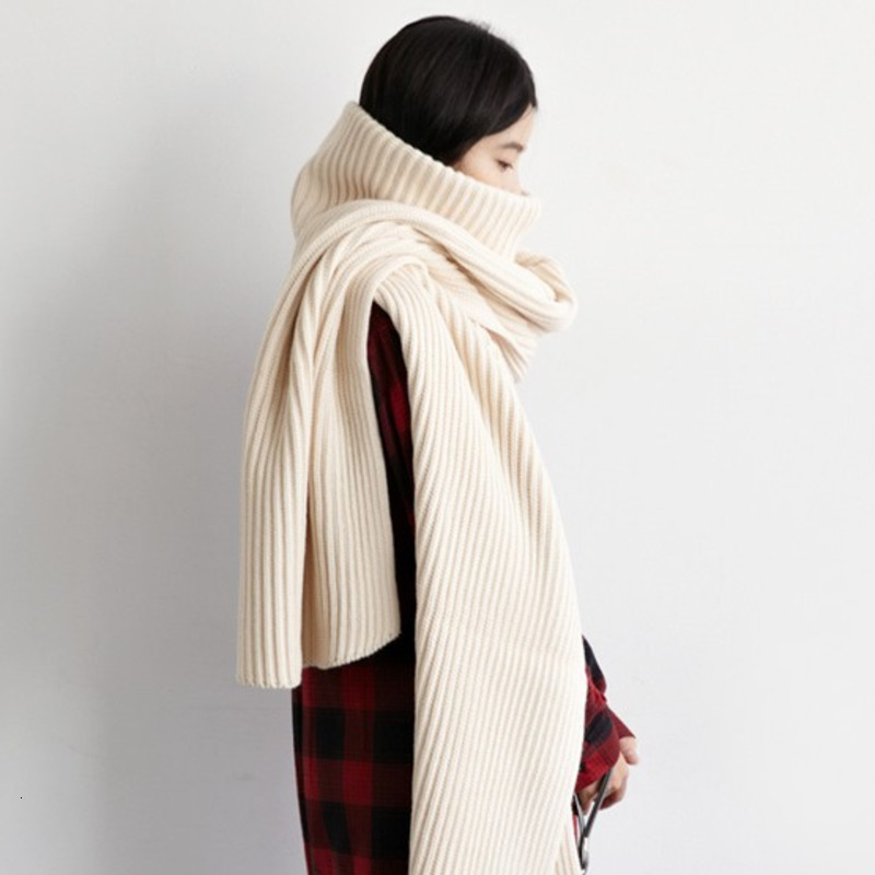 LANMREM 2019 Autumn And Winter New Turtleneck Pullover Sweater As Scarf Collar Two Ways Wearing Fashion Knits TV873