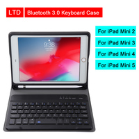 Bluetooth 3.0 Tablet Keyboard Case For iPad Mini 2 3 4 5 7.9 inch Mediapad PU Flip Leather Protective Cover For Apple iPad Case