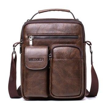 """Men Shoulder Bag For 10.5"""" IPad Large Men Handbag PU Leather Man Shoulder Crossbody Bags Business Travel Man Messenger Bag Brown"""