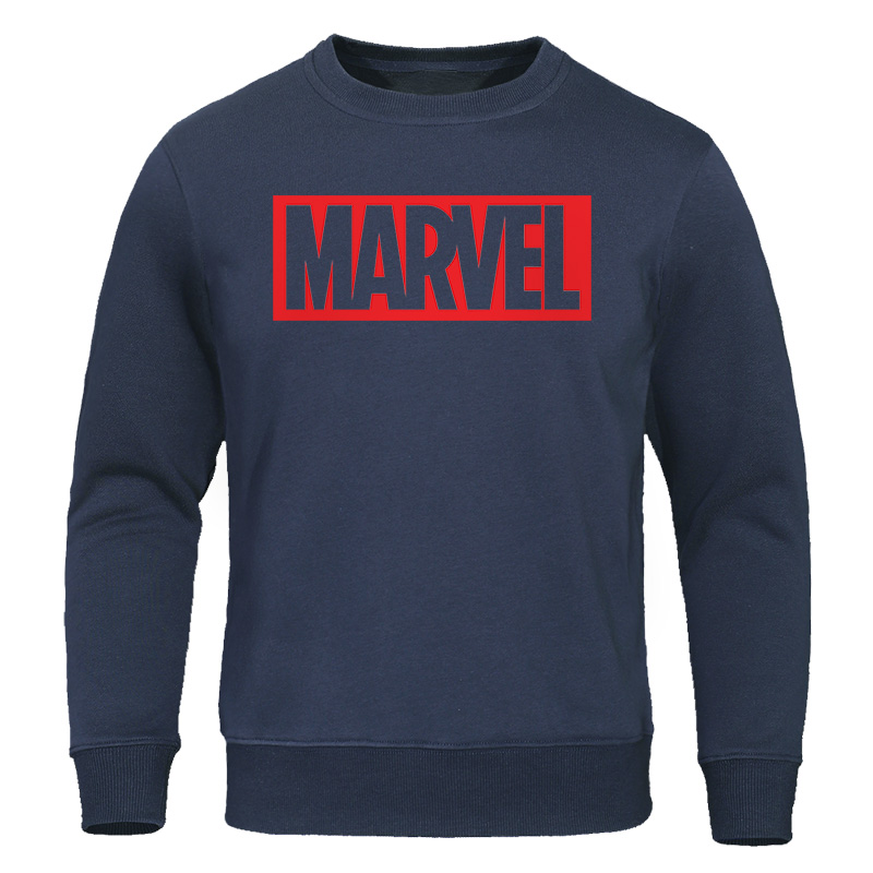 Men Hoodies 2019 Spring Autumn Hoodie Fashion Marvel Print Man Cotten Sweatshirts Casual Male O-Neck Pullovers Streetwear Tops
