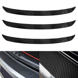 3D Carbon Fiber Rear Bumper Car Plate Sticker Trim Protector For VW Golf MK6 GTI R20 Auto Anti Scratch Tool(China)