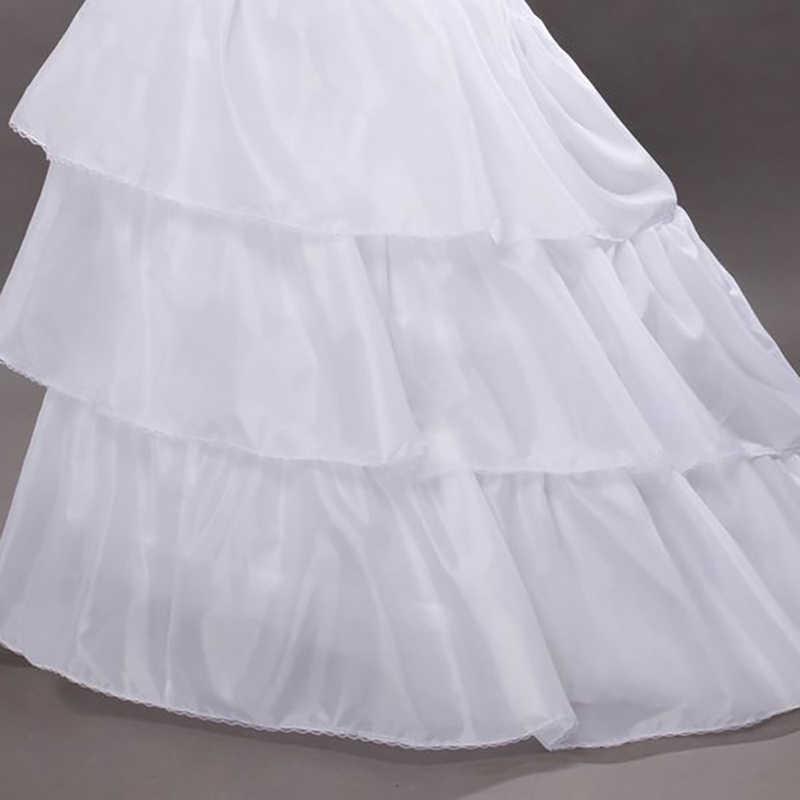Venta caliente blanco negro suave mujer boda enaguas volantes elegante mujer nupcial Underskirt para vestido de boda