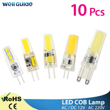 10pcs LED G4 G9 Dimmable LED Light 220V AC DC 12V Led COB Lamp LED G9 3W 6W 10W SMD 2835 LED Lighting replace Halogen Spotlight
