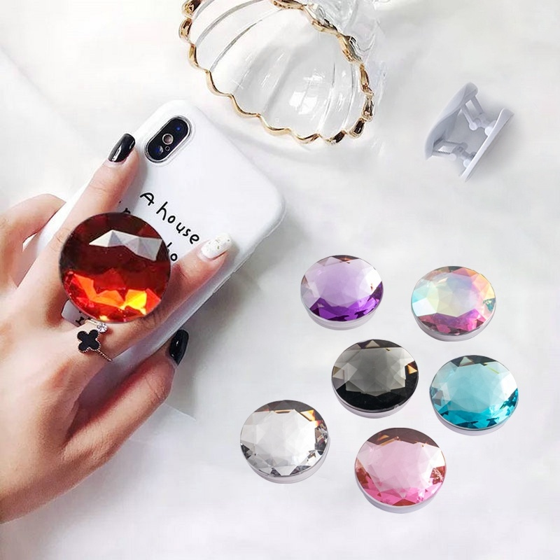 Big Diamond Phone Holder For Iphone Xr Samsung Universal  Finger Ring Phone Stand Phone Support Mobile Phone Bracket