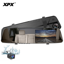 XPX ZX847 Dash cam Car DVR Mirror dvr Full HD 1080P Rear view camera Rearview mirror Dashcam Car camera Parking monitor 5 0 inch 1080p car rear view camera with monitor car dvr video recorder rearview mirror monitor auto dimming parking monitoring