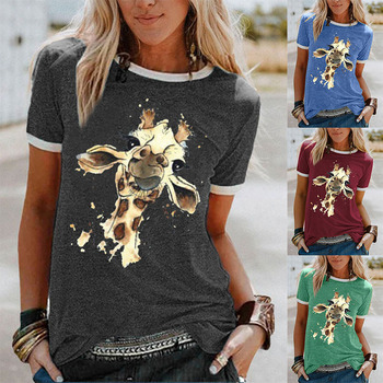 Summer Patchwork Print Tops Women Clothes Short Sleeve O-neck Pullover Base Tshirts FemaleCasaul Funny Tee Shirt Camisetas Mujer 1