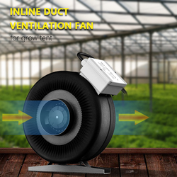4 5 6 8 10 12.5Inch Inline Duct Fan Ventilation Booster Exhaust Fan Hydroponic Exhaust Air Blower For Grow Tent Room Light