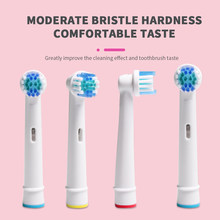 4x substituição cabeças de escova para oral-b escova de dentes elétrica ajuste avanço power/pro saúde/triumph/3d excel/vitalidade precisão limpa
