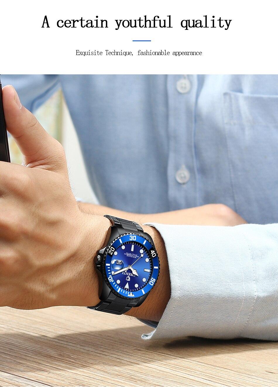 Chenxi relógio de negócios masculino casual premium