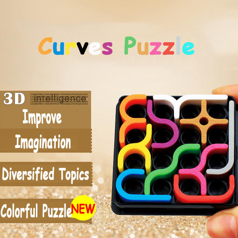 Kids Puzzle Toys 3D Crazy Curves Puzzles Games Toys Creative Curves Puzzles Geometric Line Intellectual Educational Toy For Kids