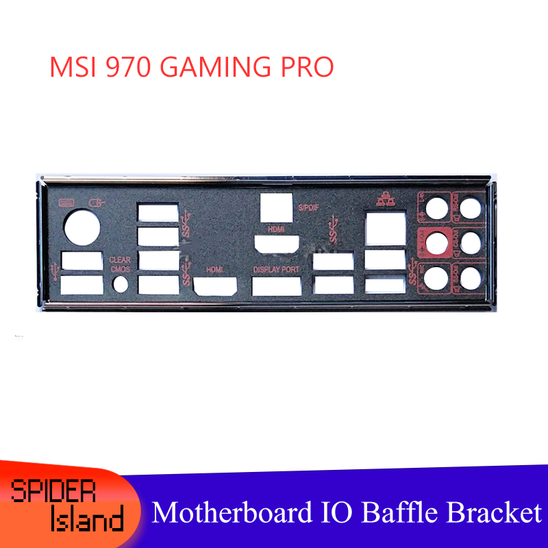New I/O Shield Back Plate Chassis Bracket Of Motherboard For MSI Z97 GAMING 7 New Baffle IO Guide Bezel Backplane Free Shipping