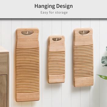 Deska do mycia drewna deska do mycia z uchwytem prostokątnym ręczna deska do mycia rąk deska do prania ubrania domowe do prania tanie i dobre opinie CN (pochodzenie) Washboard WOOD