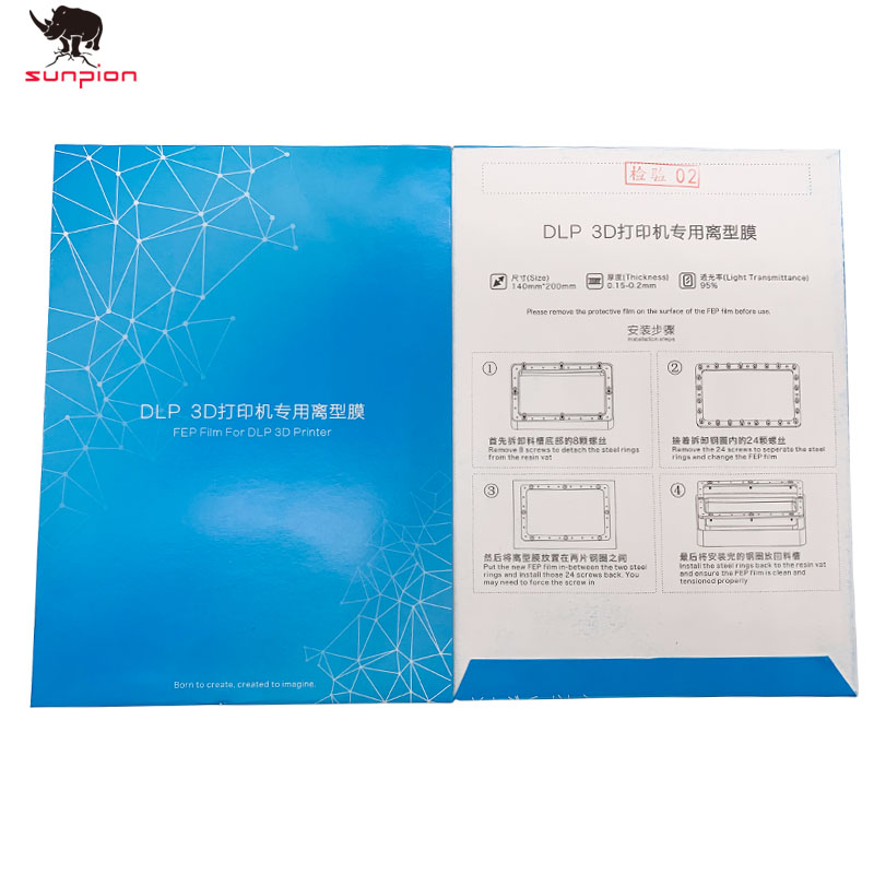 Фотон SLA 3d принтер, фэп пленка 140x200 мм фэп листы 0,15-0,2 мм для ANYCUBIC Фотон Смола УФ свет 3d принтер s Impresora