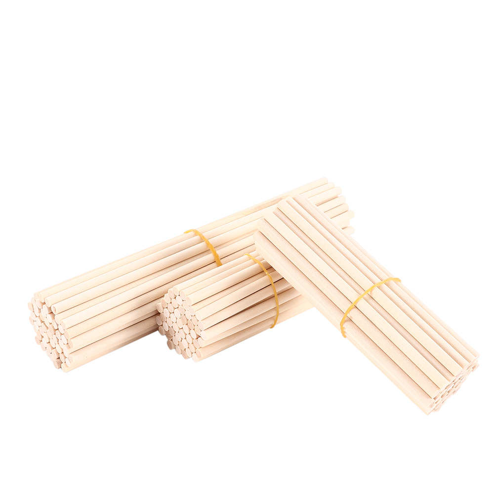 5mm 50 Pcs Round Pine Wooden Rods Educational Toys Durable Dowel Building Model Woodworking Crafts Wood DIY Accessories