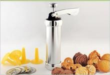 Baking Tools Cookie Mould Guns Flower Gun Aluminum Alloy Tube 20 Pieces Cookies 4 kinds of floral decorations