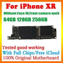 נקי iCloud היגיון לוח עבור iPhone XR 64gb 128gb 256gb האם לא פנים מזהה סמארטפון mainboard מלא שבבי תמיכה IOS עדכון
