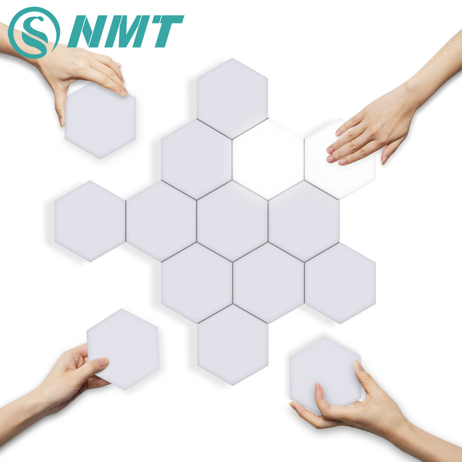 Quantum Lamp LED Hexagonal Modular Touch Sensitive Quantum Lighting Night Light Magnetic Hexagons Creative Wall Decoration