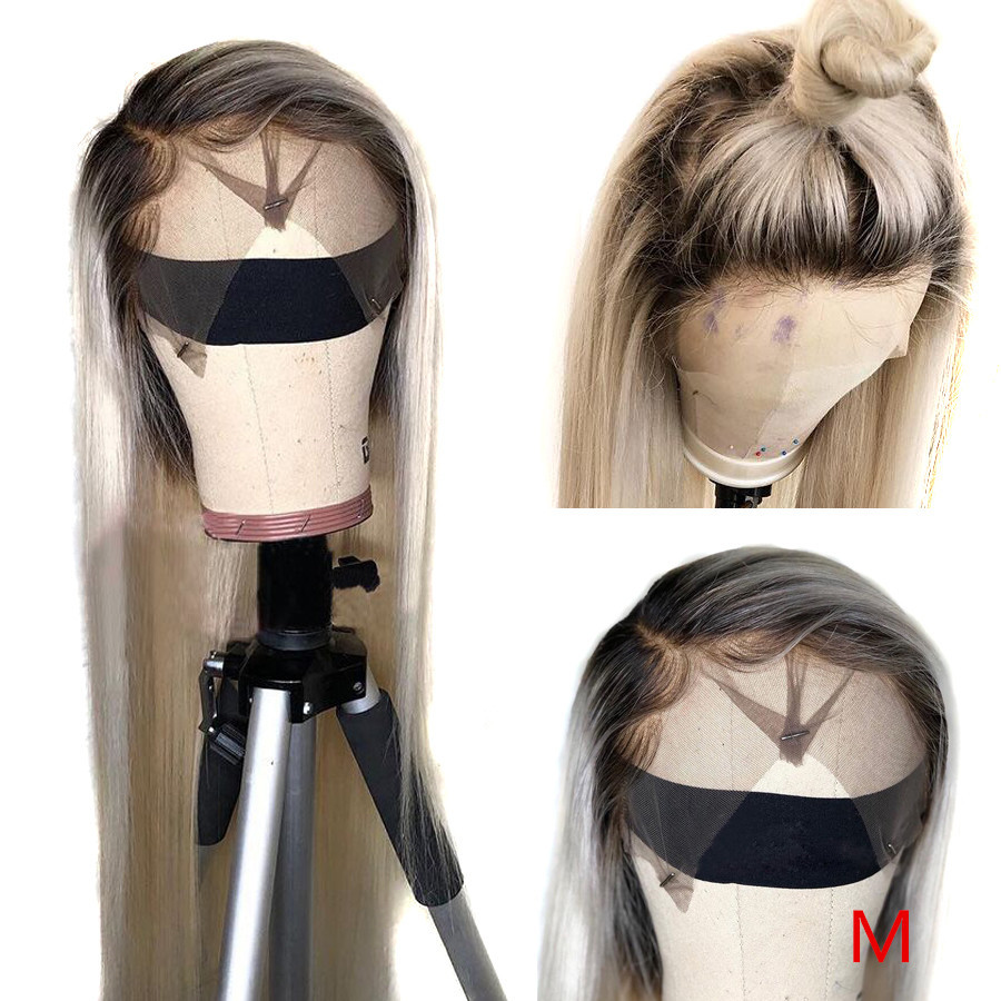 Beeos 150% Medium Ratio Straight 13*4 Transparent Lace Human Hair Wig Pre Plucked Brazilian Remy Hair 8