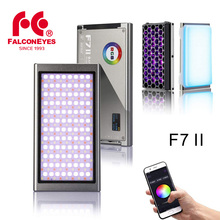 Falcon Eyes F7 II RGB On Camera Video Light 12W APP Control Magnetic LED Fill Lamp with Scene Effects Modes with Honeycomb Grid