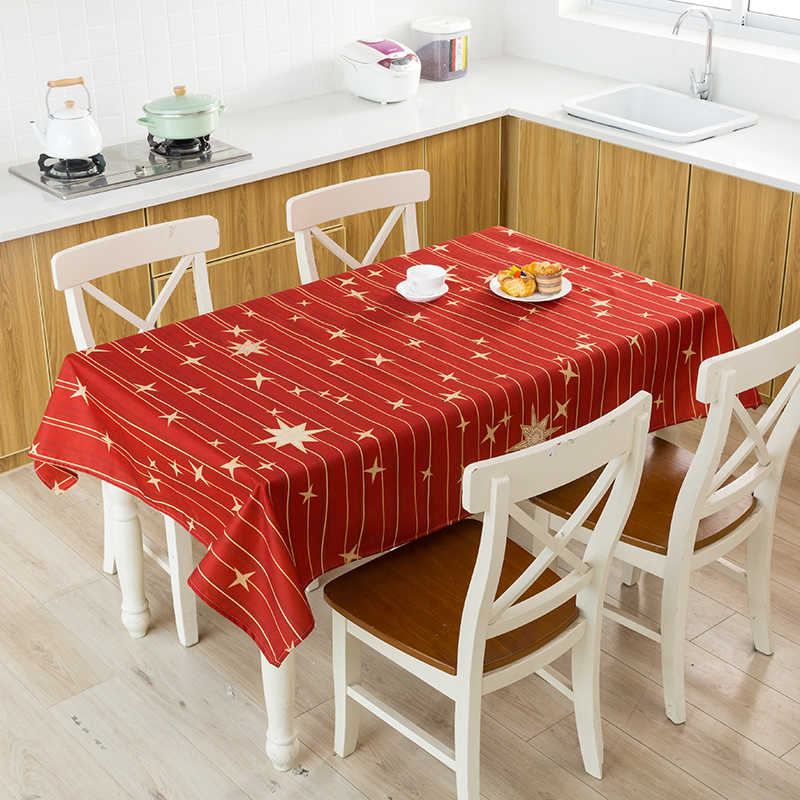 Tafelkleed voor tafel kerst tafelkleed elanden sneeuwpop boom tafelkleed decoração para casa tafel cover hulsel de tafel mariage