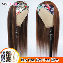 Mix di colori in evidenza parrucca per capelli parrucca diritta per capelli umani per donna parrucca naturale per capelli Remy brasiliani a digiuno-installazione MYLOCKME