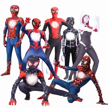 New Adult Kids Cosplay Costume Zentai PS4 Homecoming Suit Bodysuit Jumpsuits Man adult kids spider far from home peter parker cosplay costume zentai spider superhero bodysuit suit jumpsuits